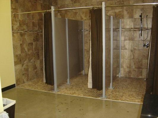 Shower partitions gold s gym carbondale il lockers