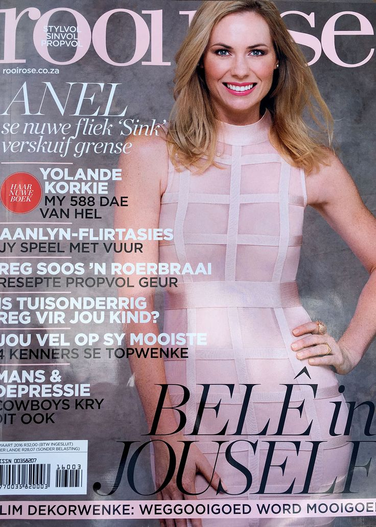 DemocraticRepublic dresses another beautiful celeb @AnelAlexander on this months cover of @RooiRose Magazine!