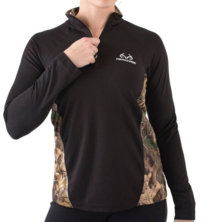Realtree Women's 1/4 Lightweight Pullover Accented in Xtra
