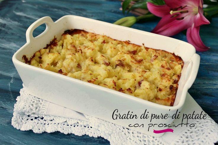 Gratin di purè di patate con prosciutto un contorno semplice per un piatto cremoso e molto saporito ricetta gratin di purè di patate con prosciutto