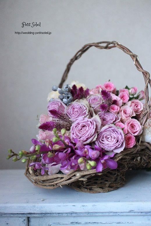 バスケットブーケ basket bouquet