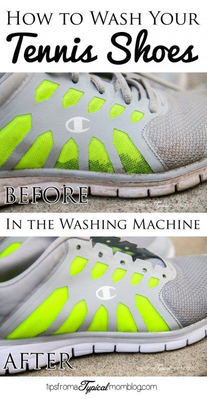 putting sneakers in the washing machine