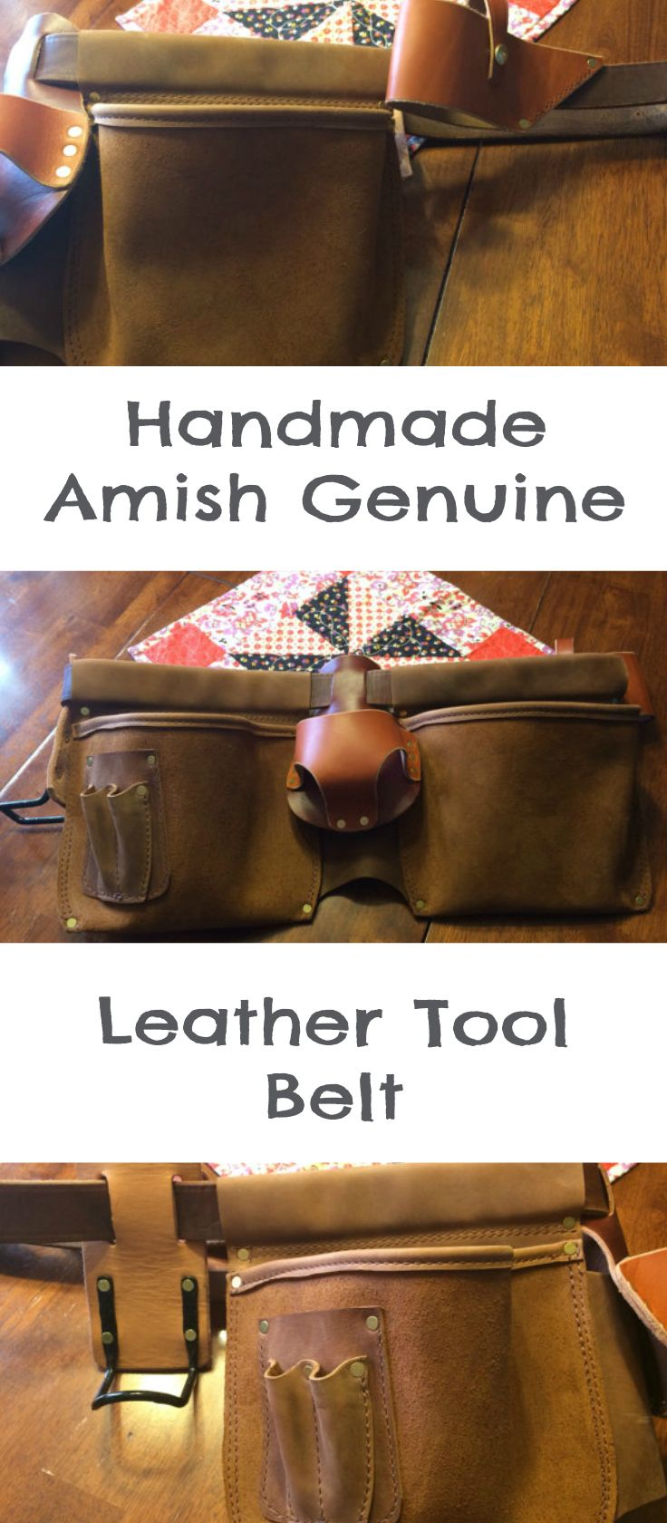 handmade leather tool belt. use this handmade amish genuine leather tool belt to hold all of your tools when working
