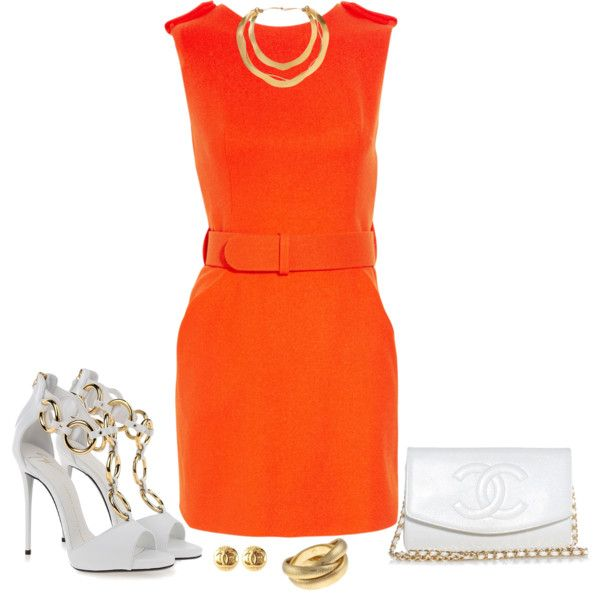 A fashion look from July 2014 featuring Alexander McQueen dresses, Giuseppe Zanotti sandals and Chanel clutches. Browse and shop related looks.