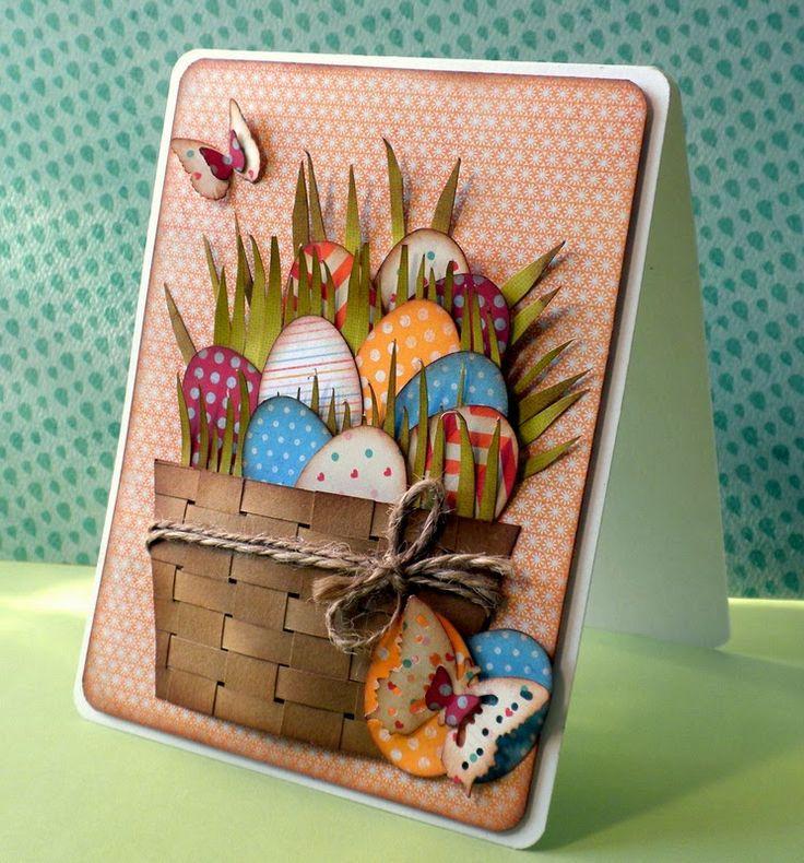 woven Easter basket card - bjl