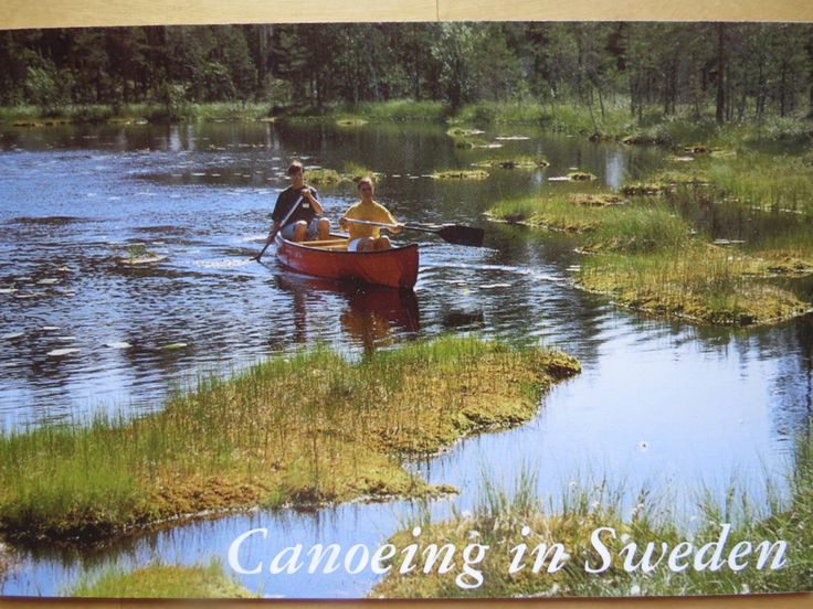 canoeing in Sweden - SENT TO THE US November 2017