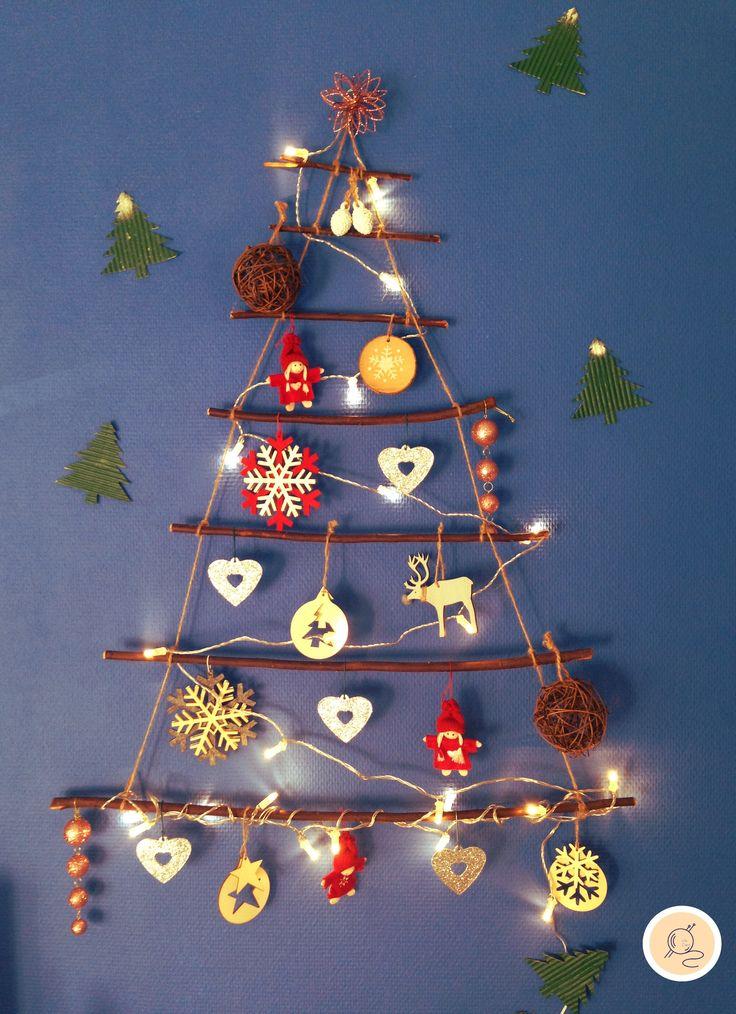 Sapin de Noël DIY ! 🎄🎄 (Branches de bois, ficelle