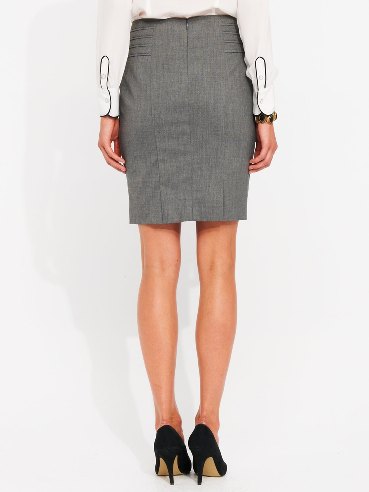 Chanel - This Windowpane Check Skirt is from Portmans