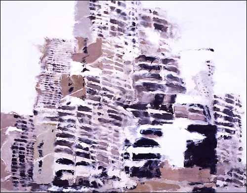 Philippe Cognée - peinture à l'encaustique