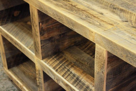 Reclaimed Wood Media Console Storage Console by AtlasWoodCo