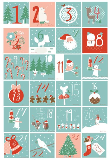 free printable numbers for advent calendar