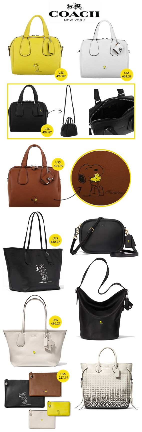 Coach + Snoopy: tem coleção de bolsas, roupas e acessórios inspirada nas tirinhas Peanuts!