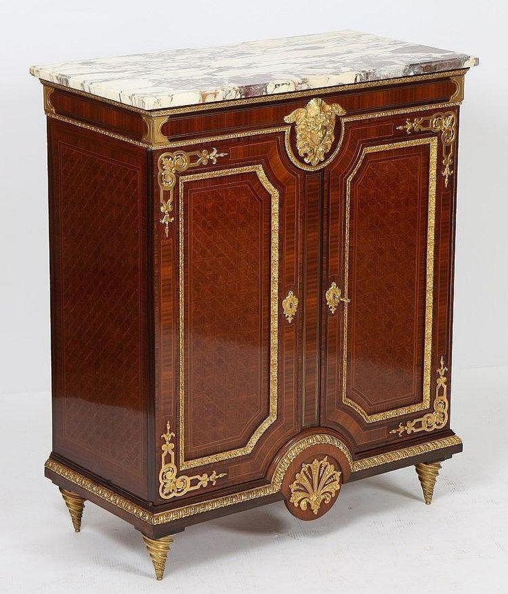 Meuble d 39 appui marquete de krieger de stylelouis xiv for Meuble for french furniture
