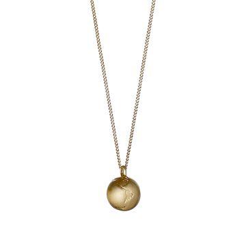 PILGRIM halskæde med globus - guld