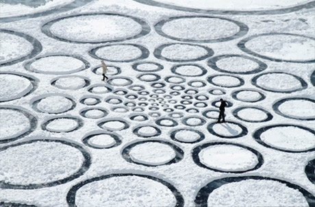 A look back at the land artist's grueling mission to turn nine square miles of Siberian ice into a work of art.