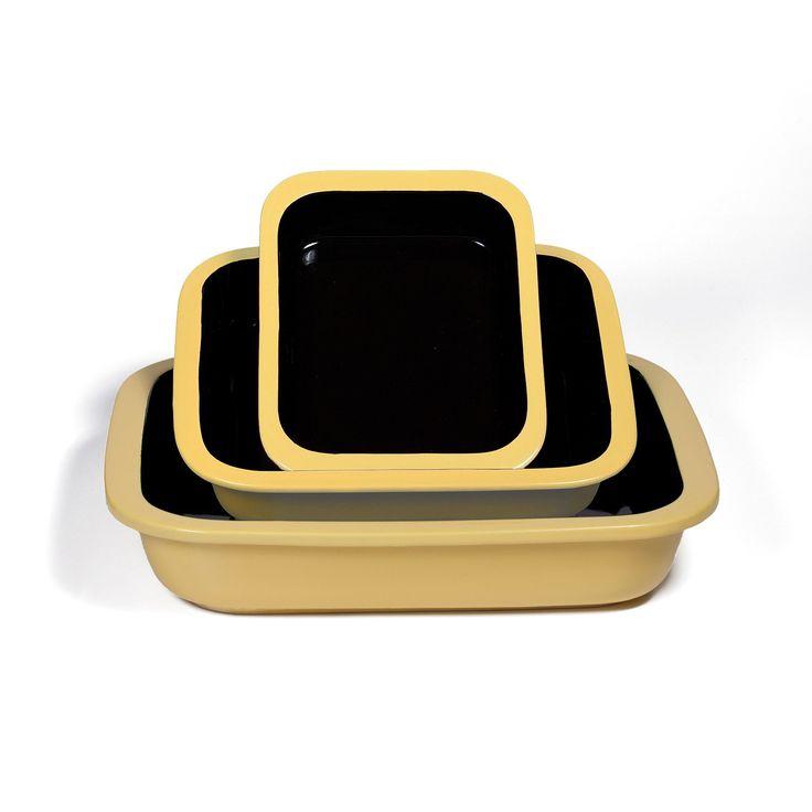 Ovenex 3 Piece Stoneware Bakeware Set (Sunlight Yellow)