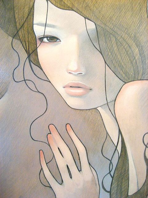 artist Audrey Kawasaki.  love the hair