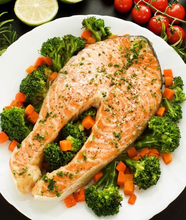 Food Synergy: Wild caught salmon (Fish) + Broccoli... Boosts benefits of cancer fighting benefits of Selenium