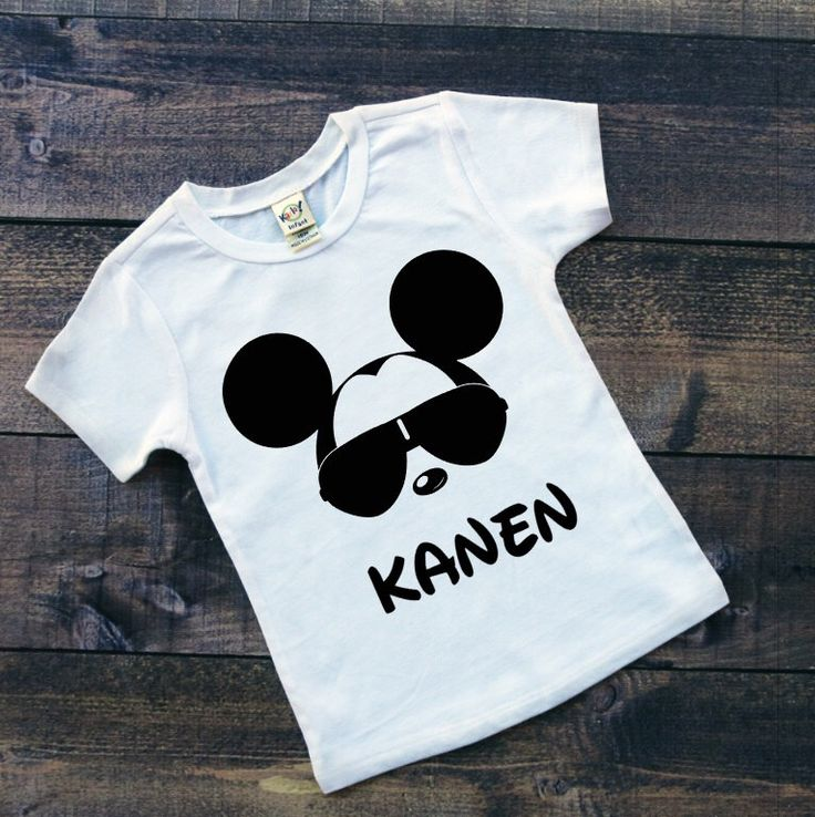 Toddler Boy White Tee - Personalized Cool Mickey Mouse with Sunglasses and NAME - Custom Boy Disney Shirts - Disney Family Vacation Shirts by TheHotPolkaDot on Etsy https://www.etsy.com/listing/293813495/toddler-boy-white-tee-personalized-cool