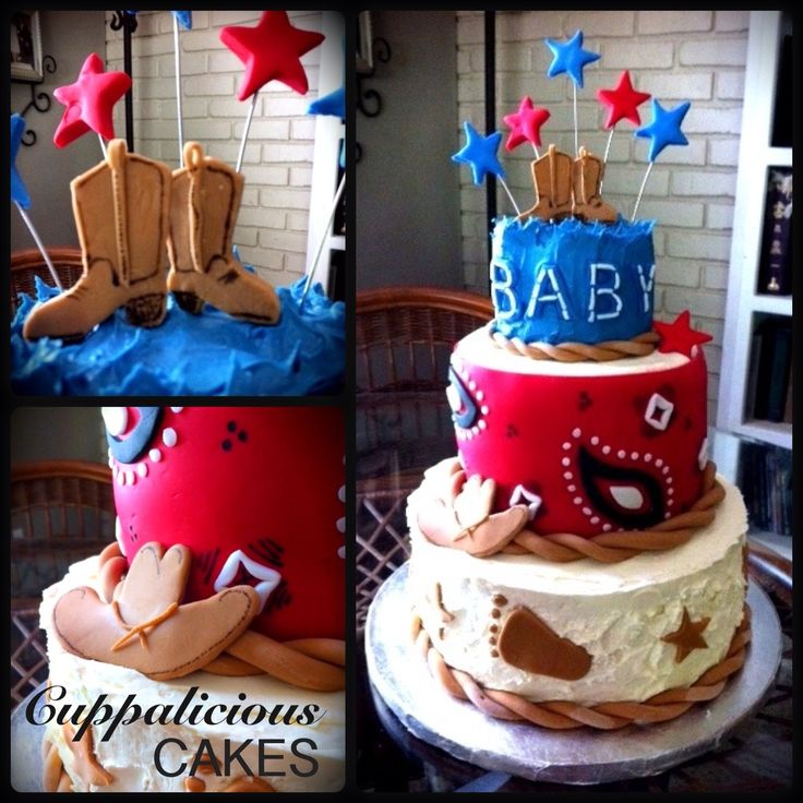 Cowgirl Baby Shower Cakes: Cowboy Baby Shower Cake.