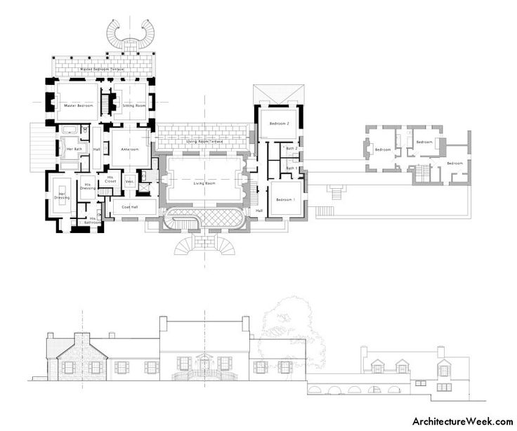 346 best Architectural plan elevation stu s images on Pinterest