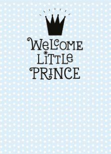 Geboortekaartje - welcome-little-prince