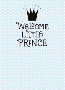 Geboortekaartje - welcome-little-prince