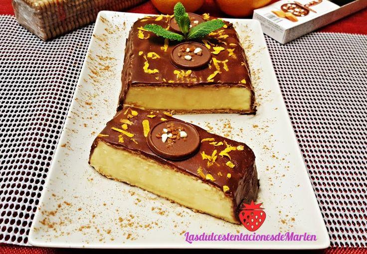 Una versión muy especial e igual de rica de la tarta de la abuela de galletas, natilla y chocolate. ¡No dudes en probarla!