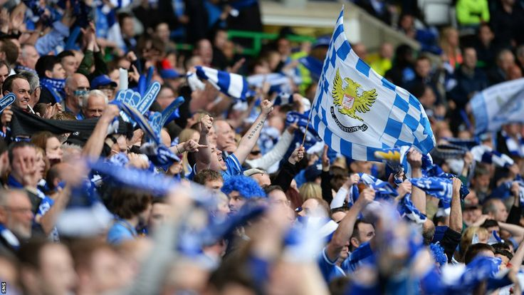 The St Johnstone fans are overjoyed and soon the full-time whistle blows