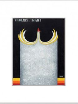 Phoenix By Night – Matted Print | Design Withdrawals