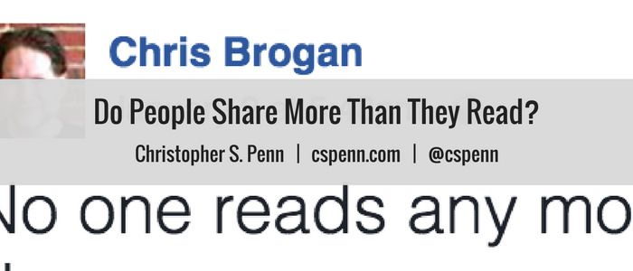Do People Share More Than They Read?