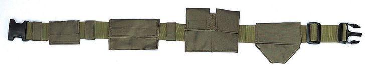 """Polyester SWAT Belt - Black or Olive Drab Adjustable 49"""" Long Tactical Belt"""