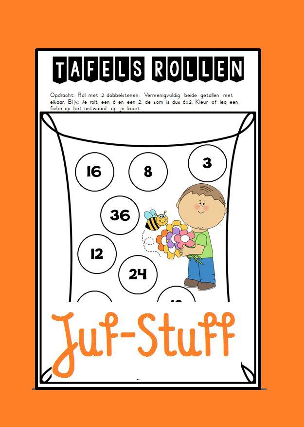 Juf-Stuff: Tafels rollen - lente-editie