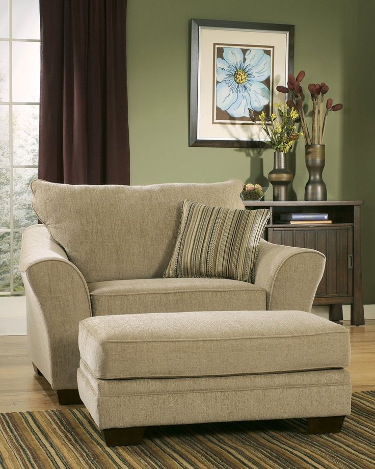 MM Furniture Lena Putty Chair and Half - Chairs - Living Room Furniture - Living Room - Furniture
