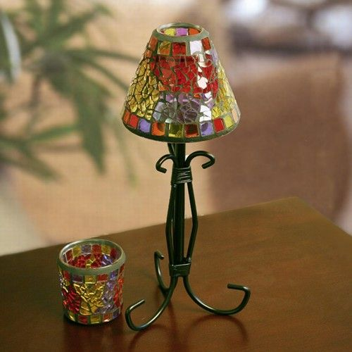 173 best tealight lamps images on pinterest lamp shades lamps and mosaic shade votive lamp candle aloadofball Gallery