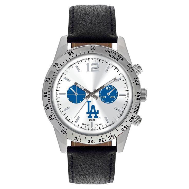 Men's Game Time MLB Letterman Sports Watch - Black - Los Angeles Dodgers