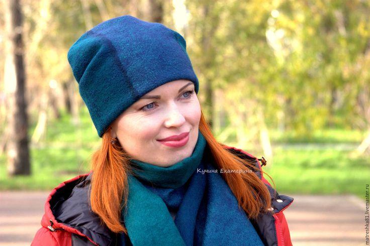 Купить Шапка женская..валяная...унисекс - шапка женская шапка, женская шапка шапка