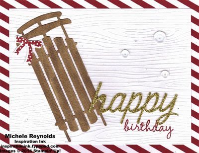 Handmade birthday card using Stampin' Up! products - Celebrate Today Photopolymer Stamp Set, Balloon Framelits, Blendabilities Markers, and Watercolor Winter Simply Created Card Kit.  By Michele Reynolds, Inspiration Ink, http://inspirationink.typepad.com/inspiration-ink/2015/01/watercolor-winter-simply-created-created-card-kit-variations.html.