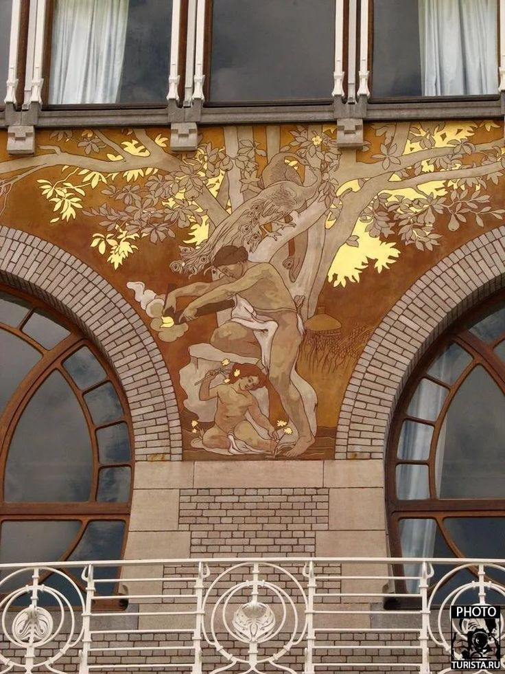 The famous Cimberlani House in the city where Art Nouveau originated,  Brussels. By Belgian architect & interior designer Paul Hankar who was an  innovator in ...