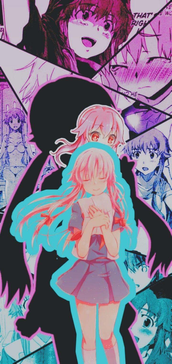 Edit De Gasai Yuno Yandere Manga Anime Wallpaper Yuno Gasai