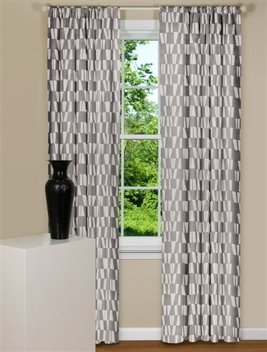 My new favorite Contemporary Curtains- gray