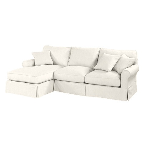 Baldwin 2-Piece Sectional with Right Arm Chaise Slipcover ...
