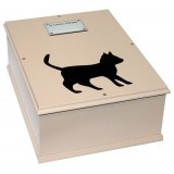 A beautiful selection of hand crafted pet caskets.