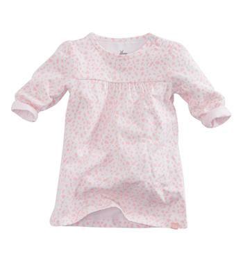 Z8 newborn jurk model Busy Lizzie. Dit jurkje is voorzien van een all over gevlekte print en heeft lange mouwen - Roze dessin - NummerZestien.eu
