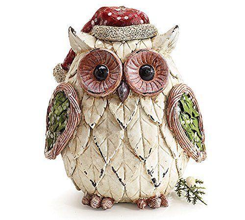 Christmas Owl Figurine with Santa Hat Adorable Holiday Decor Burton & Burton http://www.amazon.com/dp/B00MNOT8FY/ref=cm_sw_r_pi_dp_JG5Tub1HYA7A7