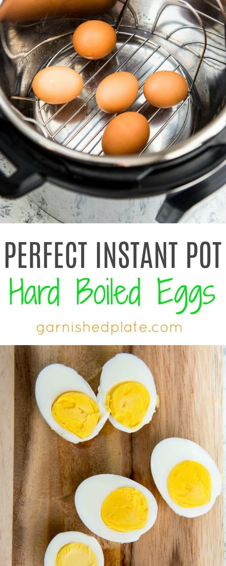 Perfect Instant Pot Hard Boiled Eggs are the simplest and most foolproof way of making Hard Boiled Eggs every time! via @garnishedplate