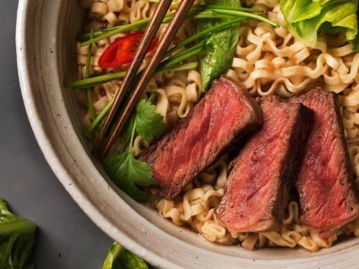 Nouilles sautées chinoises au boeuf : Recette de Nouilles sautées chinoises au boeuf - Marmiton