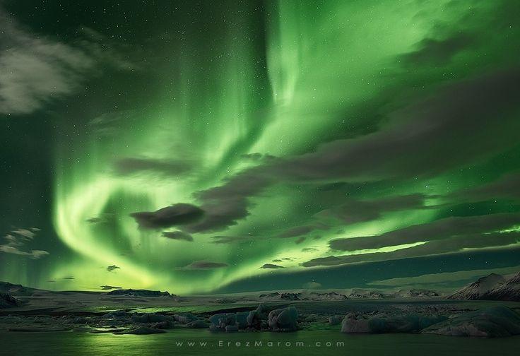 Aurora borealis. Shades of Green by Erez Marom - Photo 81162795 / 500px