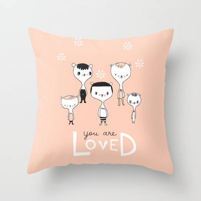 You are Loved - Pink Throw Pillow by Lori Joy Smith - $20.00