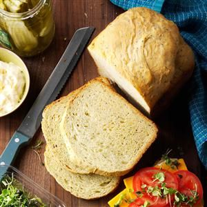 """Flavorful Herb Bread Recipe- Recipes  """"This bread is one of my favorites,"""" reports Gerri Hamilton of Kingsville, Ontario. """"It has a wonderful texture and slices beautifully, and the flavor of the herbs really comes through."""""""
